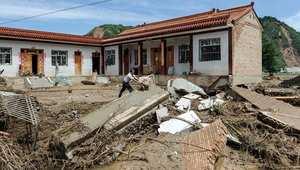 هزة أرضية سابقة ضربت منطقة تيانشوي الصينية في 29 يوليو/ تموز 2013