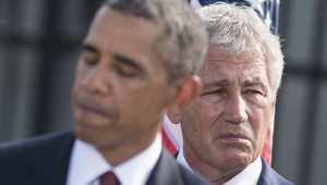 أوباما يعلن رسميا تنحي وزير الدفاع تشاك هاغل عن منصبه فور إقرار مجلس النواب لمرشح جديد لهذا المنصب