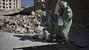 منظمة حظر الكيماوي: غاز الكلورين استخدم بهجوم على قرية شمال سوريا العام الجاري