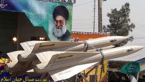 صواريخ إيرانية في استعراض عسكري