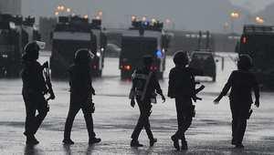 الشرطة الخاصة السعودية خلال استعراض في مكة بموسم الحج