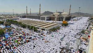 جبل عرفة - مكة ، حيث يقف الحجاج في التاسع من ذي الحجة الذي يعرف باسم يوم الحج الأكبر