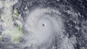صورة من الفضاء لإعصار