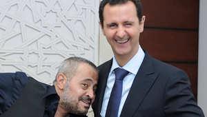 جورج وسوف في لقطة مع الأسد