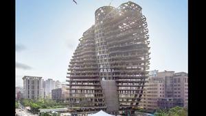 هل تسكن في هذا البرج الملتوي الآكل للكربون؟