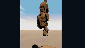 """تمثال ضخم لفرعون """"منسي"""" يعود للحياة بصور ثلاثية الأبعاد"""