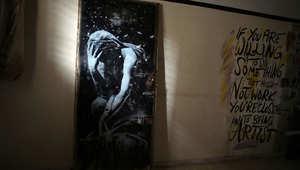 """فنان الغارفيتي العالمي """"بانكسي"""""""