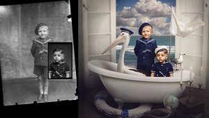 مصورة تحول صور من زمن الحرب الداكن إلى أوهام زاهية بالألوان