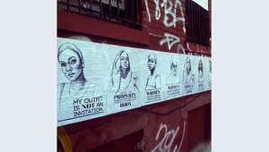 رسوم في شوارع العالم تدعو لوقف التحرش اللفظي بالنساء