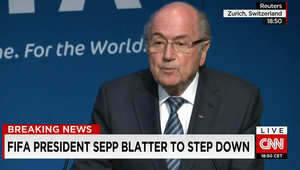 جوزيف بلاتر يعلن من سويسرا أنه سيستقيل من منصبه كرئيس للفيفا