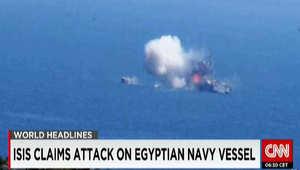 بالصور.. داعش يتبنى الهجوم على قطعة بحرية مصرية قرب رفح بالمتوسط