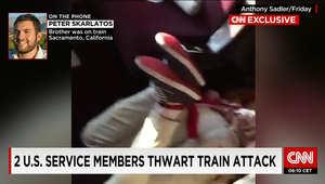 """بالصور.. محاولة ارتكاب """"مذبحة"""" على قطار فرنسي.. والمسلح إسلامي متشدد يشتبه بصلته مع داعش"""