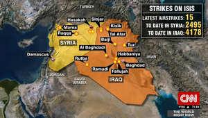 على الخريطة.. آخر تحديث على عدد الغارات ضد داعش بالعراق وسوريا