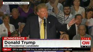 بعد الانتقادات الشديدة لعدم تصحيح سؤال يعتبر المسلمين مشكلة بأمريكا.. ترامب لـCNN: أنا أحب المسلمين.. وسأفكر بترشيح مسلم بإدارتي