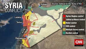 على الخارطة.. آخر تحديث على مناطق السيطرة والنفوذ في سوريا