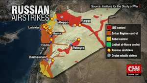 بعد سقوط 4 منها بإيران بحسب مسؤولين أمريكيين.. على الخارطة.. المواقع التي استهدفتها صواريخ كروز الروسية في سوريا وتحت سيطرة من تقع