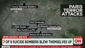 """هجمات باريس بـ6 مواقع.. وشاهد: المسلحون بدأوا بإطلاق النار داخل مسرح باتاكلان صارخين """"الله أكبر"""" خلال حفل لفرقة """"روك اند رول"""" أمريكية"""