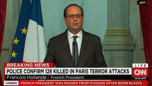 هولاند: الهجمات عمل حربي من قبل تنظيم داعش فالتخطيط خارجي والتواطؤ داخلي