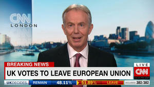 توني بلير لـCNN: بريطانيا منقسمة.. ونتيجة الاستفتاء تجربة كبيرة في سياسات التمرد