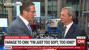 """فاراج لـCNN: على الاتحاد الأوروبي """"التوقف عن التصرف بسخافة"""".. وأرفض مقارنتي بترامب"""