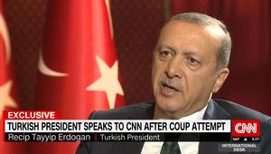 بأول مقابلة له بعد محاولة الانقلاب.. أردوغان يتحدث لـCNN عن اللحظات الأولى بعد تلقيه الأنباء وتحركه لمطار إسطنبول
