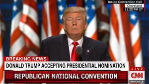 ترامب يعلن قبوله ترشيح الحزب الجمهوري له بسباق الرئاسة الأمريكية 2016