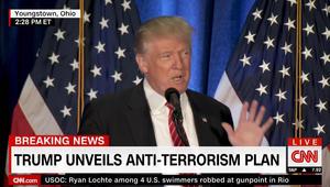 ترامب يكشف خطته لمكافحة الإرهاب: سنهزم التطرف الإسلامي.. وكان علينا البقاء بالعراق