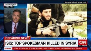 داعش يعلن مقتل المتحدث باسمه وأحد أبرز قادته أبومحمد العدناني في حلب بسوريا
