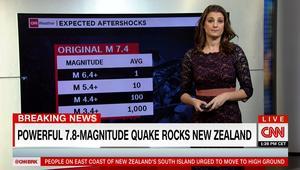 زلزال بقوة 7.8 ريختر يضرب نيوزيلندا