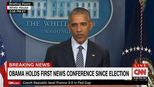"""أوباما بأول مؤتمر صحفي منذ انتخاب ترامب: ستظل أمريكا قوة """"لا غنى عنها"""""""