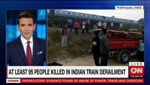 ارتفاع عدد ضحايا حادث قطار الهند إلى 95 قتيلا