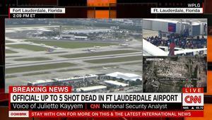 """مصادر أمنية لـCNN: ارتفاع عدد قتلى إطلاق النار في مطار """"فورت لودرديل"""" في فلوريدا إلى 5 أشخاص على الأقل"""