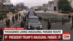 موكب ترامب الرئاسي من الكابيتول إلى البيت الأبيض