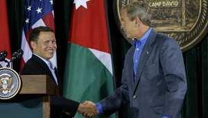 الملك عبدالله وجورج بوش