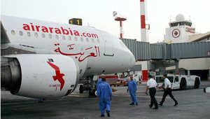 صورة أرشيفية لطائرة تابعة للعربية في مطار الكويت