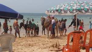 أصحاب الأحصنة: يتجولون بأحصنة مسرجة  يتم كراؤها لجولة حول الشاطئ