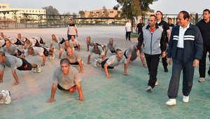 السيسي يتفقد الأنشطة التدريبية لطلبة الكلية الحربية