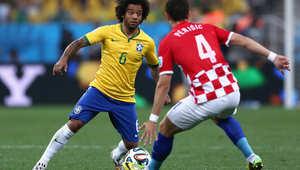 لقطات من الشوط الأول في مباراة افتتاح كأس العالم بالبرازيل