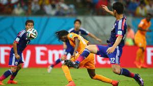 كأس العالم 2014: ساحل العاج ينتفض ويهزم اليابان بهدفين لهدف