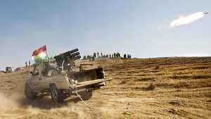 قوات كردية تطلق صاروخا في معركة مع داعش في يونيو/ حزيران 2014