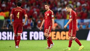 كأس العالم 2014: اسبانيا حاملة اللقب تودع المونديال بعد خسارتها أمام التشيلي بهدفين دون رد