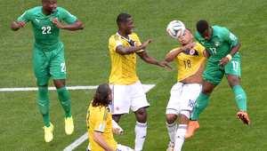 كأس العالم 2014.. كولومبيا وساحل العاج بلقطات
