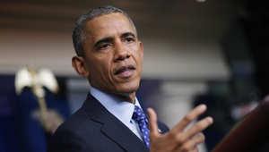الرئيس الامريكي باراك أوباما يتحدث حول الوضع المتدهور في العراق وتقدم الدولة الإسلامية