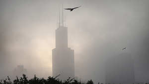 يبلغ ارتفاع البرج 1450 قدما، ومكون من 110 طوابق
