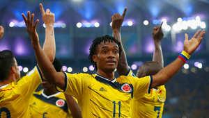 كأس العالم 2014: كولومبيا تتأهل على حساب الأوروغواي بهدفين مقابل لا شيء