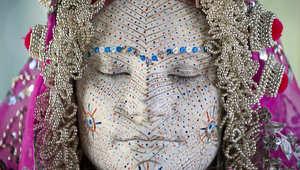 """""""أرليتا ساهيتي"""" في متحف الأعراق البشرية في بريشتينا بكوسوفو."""