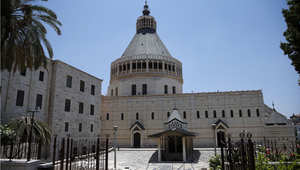 كنيسة البشارة في الناصرة حيث يعتقد أنه المكان الذي ظهر فيه جبريل لمريم العذراء وبشرها بالمسيح