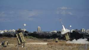 صاروخ تطلقة منظومة القبة الحديدية الإسرائيلية لاعتراض صاروخ أطلق من غزة 18 يوليو/ تموز 2014