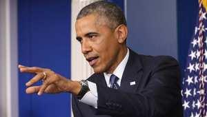 أوباما يتحدث للصحفيين في البيت الأبيض 1 أغسطس/ آب 2014