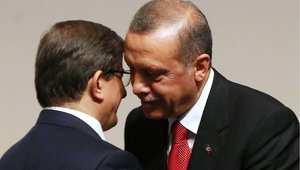 الرئيس التركي رجب طيب أردوغان، ورئيس الوزراء أحمد داوود أوغلو